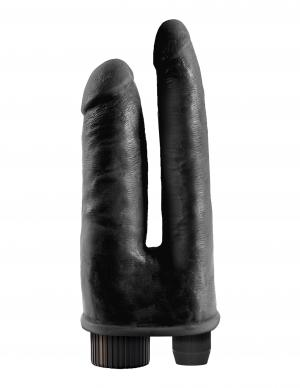 King Cock Double Penetrator Black Double Vibrating