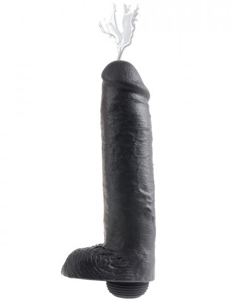 King Cock 11 inches Squirting Black Dildo