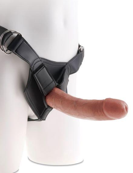 King Cock Strap On Harness With 8 Inches Cock Tan