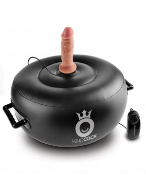 King Cock Vibrating Inflatable Hot Seat Black