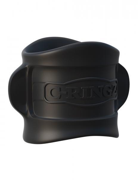 Fantasy C-Ringz Silicone Ball Stretcher Black
