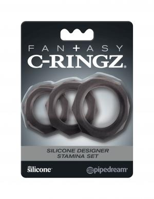 Fantasy C Ringz Silicone Designer Stamina Set Black