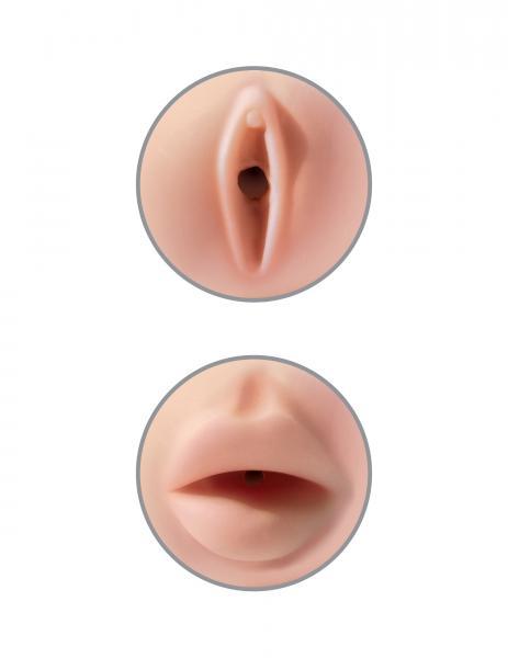 Tight Grip Pussy/Mouth Masturbator Beige