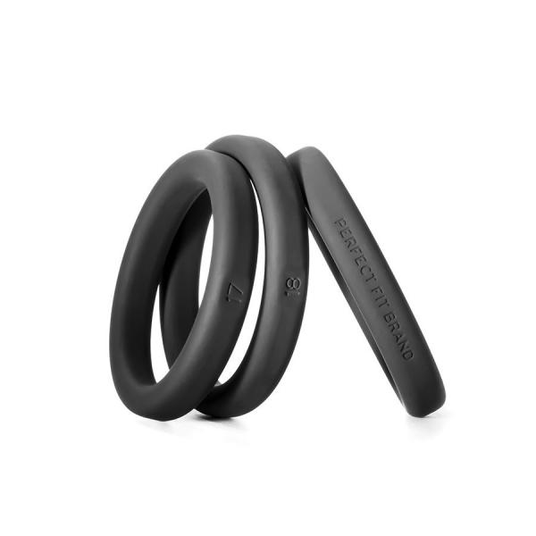Xact-Fit Silicone Rings #17, #18, #19 Black