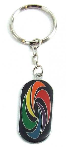 Gaysentials Enamel Key Chain Swirl