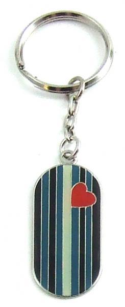 Gaysentials Enamel Key Chain Leather Flag