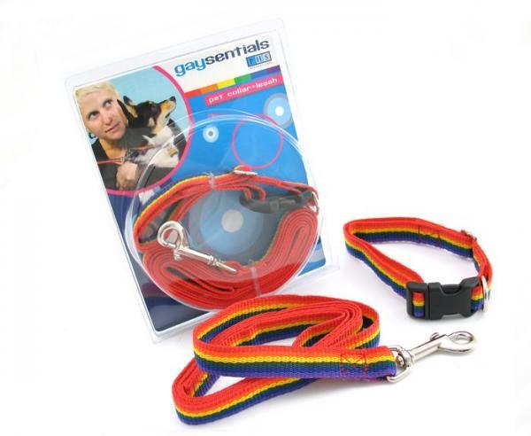 Gaysentials Pet Collar and Leash Set Medium