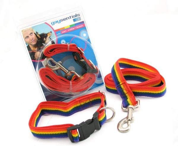 Gaysentials Pet Collar and Leash Set Large