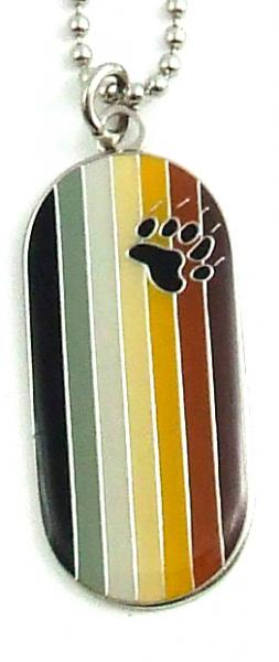 Gaysentials Bear Flag Dog Tag Necklace