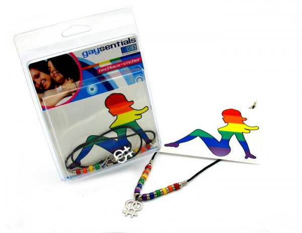 Gaysentials Necklace Sticker Combo Female