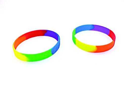 Gaysentials Rainbow Bracelet Set Silicone
