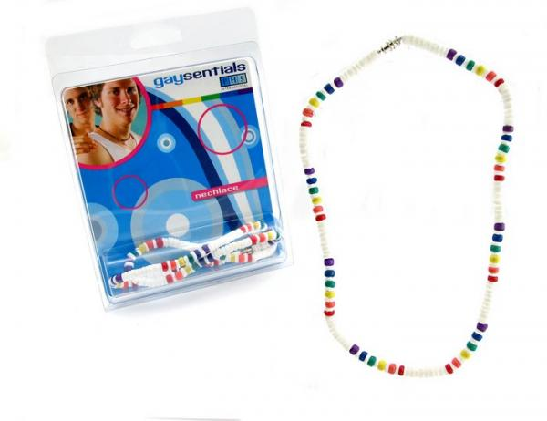 Gaysentials Rainbow Shell Necklace 18 inches