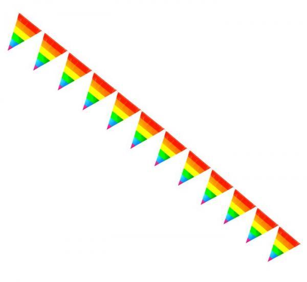 Gaysentials Rainbow Striped Pennants Decoration 12 Feet