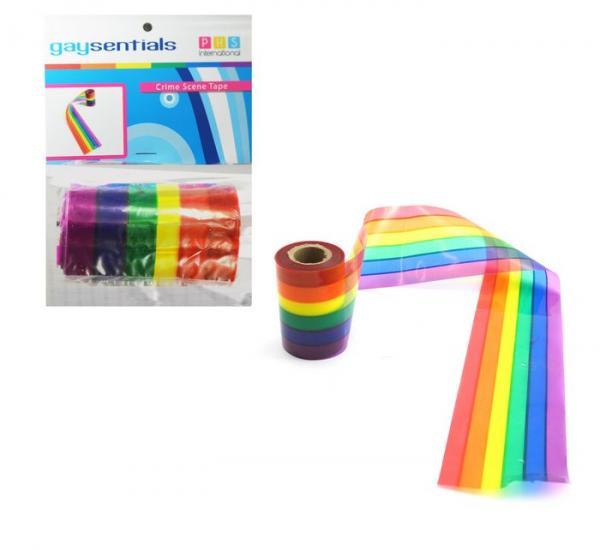 Gaysentials Rainbow Crime Scene Tape