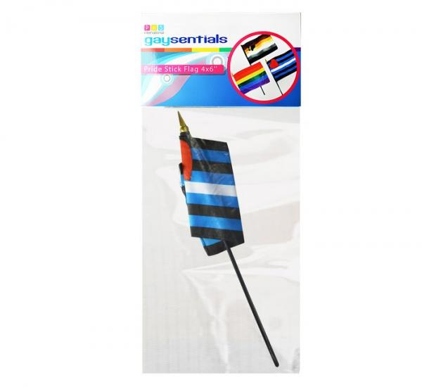 Gaysentials Leather Stick 4 inches by 6 inches Flag