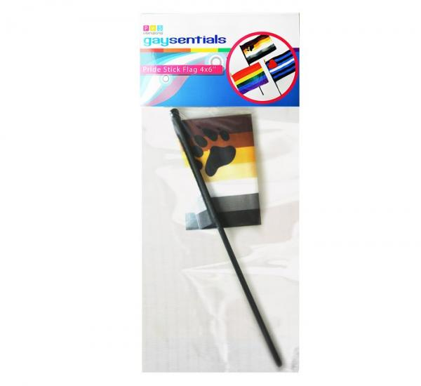 Gaysentials Bear Stick Hand Held 4 inches by 6 inches Flag