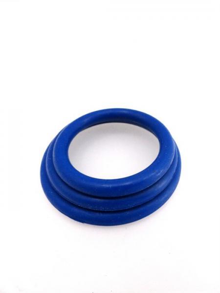 M2M Cock Ring Nitrile 3 Piece Set Dark Blue