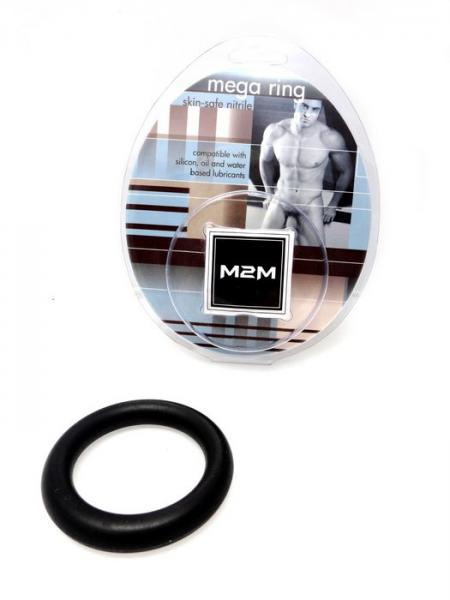 M2M Mega Nitrile Cock Ring Large Black