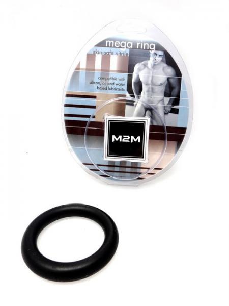 M2M Cock Ring Mega Nitrile Small Black