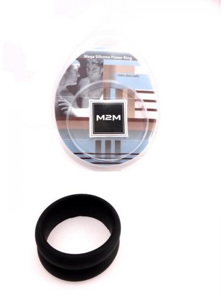 M2M Mega Silicone Power Ring Black