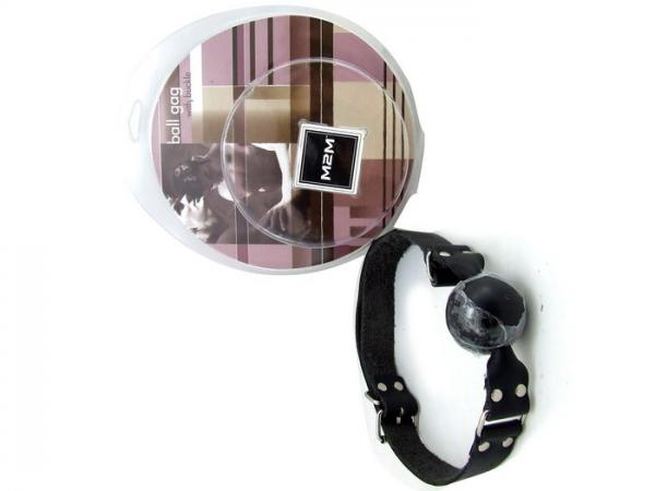 M2M Gag Leather Ball Black O/S
