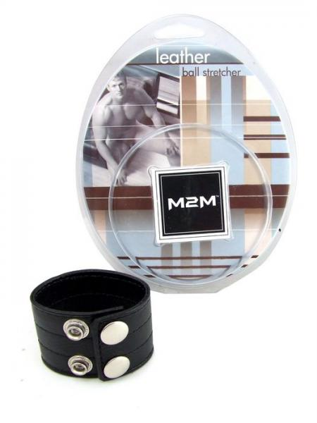 M2M Leather Ball Stretcher 1.5 inches Black
