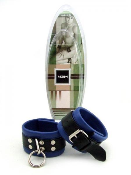 M2M Wrist Cuffs Black Blue Handcuffs