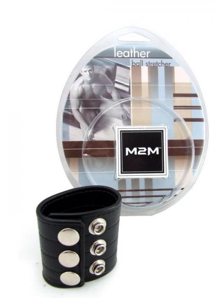 M2M Ball Stretcher Leather 2 inches Black