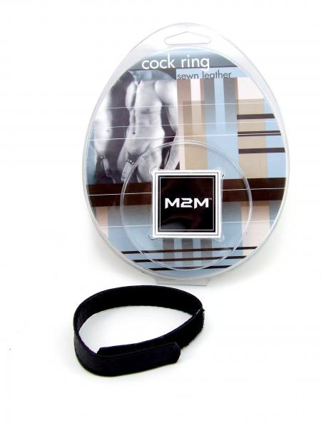 M2M Ring Leather Velcro Black