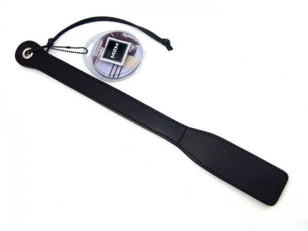 M2M Paddle Leather Slapper Black
