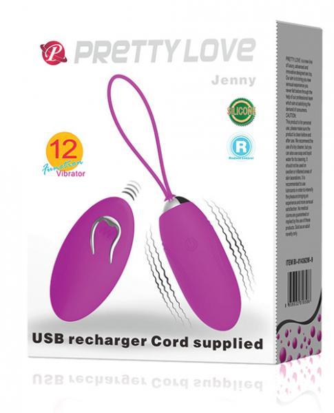 Pretty Love Jenny Remote Control Bullet Vibrator Purple