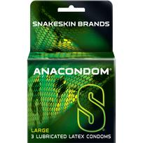 Anacondom Large Latex Condoms 3 Pack Extras R03160