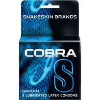 Cobra S Smooth Latex Condoms 3 Pack Extras R03170