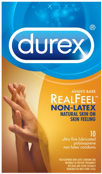 Durex Avanti Reel Feel Non Latex 10 Pack Condoms Extras R89456