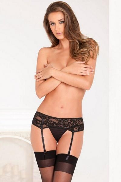 Lace Garter Belt Black M/L