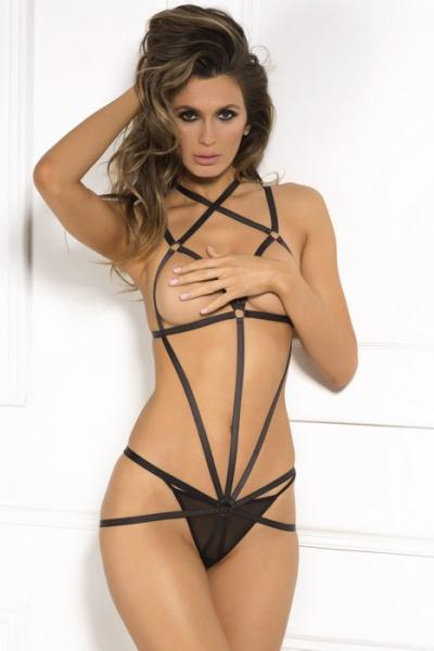 Rene Rofe Wrapped In Lust Body Harness Black M/L