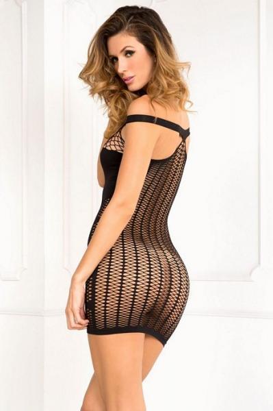 Big Spender Multi Net Seamless Dress Black M/L