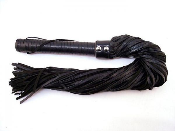 Rouge Long Suede Flogger Leather Handle Black
