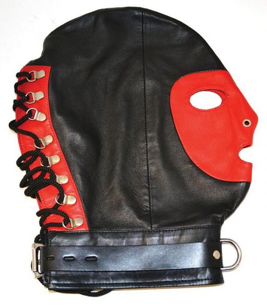 Rouge Mask D-Ring Lockable Buckle Strap Black Red