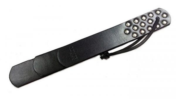 Rouge Leather Three Straps Paddle Black