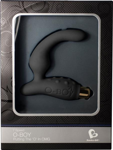 O Boy 7 Speed Waterproof Prostate Stimulator - Black