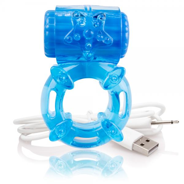 Screaming O Charged Big O Vibrating Cock Ring Blue