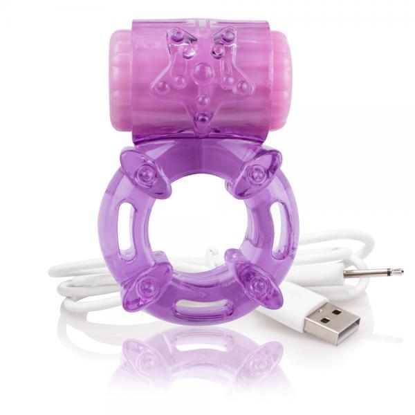 Screaming O Charged Big O Vibrating Ring Purple