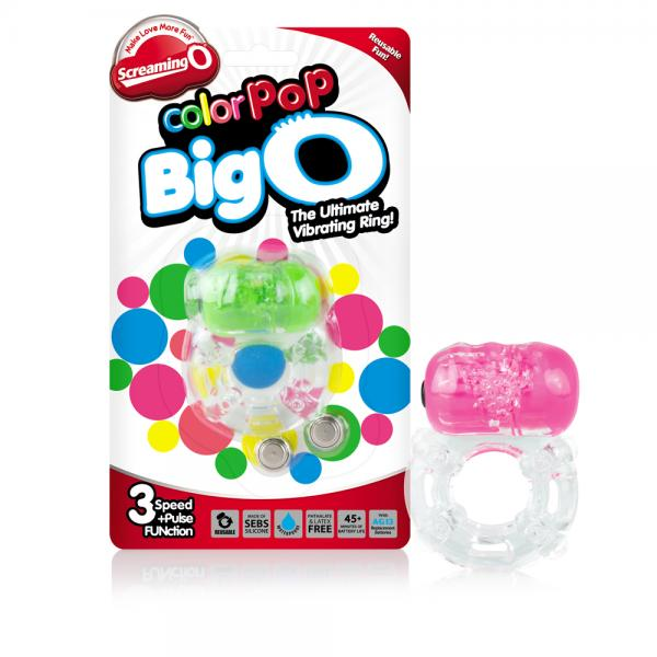 Color Pop Neon Colors Big O Rings 6 Pieces