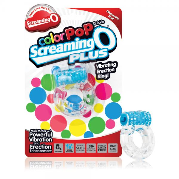 Color Pop Quickie Screaming O Plus Blue Ring