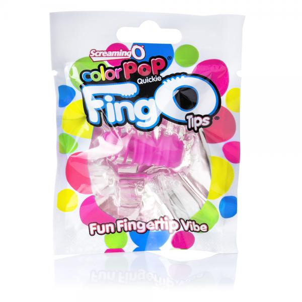 Color Pop Fing O Tip Pink Finger Vibrator
