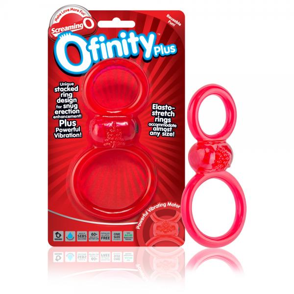 Screaming O Ofinity Plus Ring Red