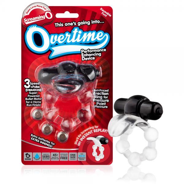 Overtime Black Vibrating Ring