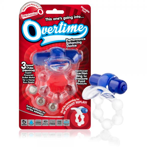 Overtime Vibrating Ring Blue
