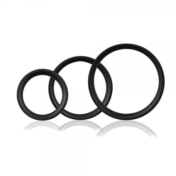 Ringo Pro X3 Black 3 Silicone Cock Rings
